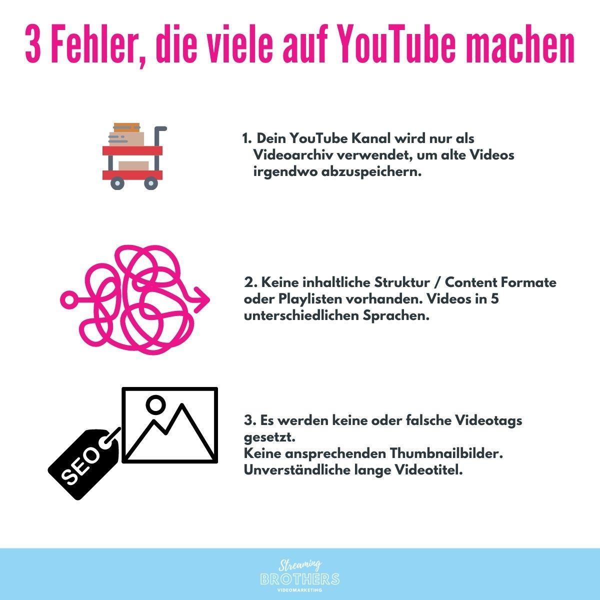 3 Fehler die viele Marken / Unternehmen auf YouTube machen